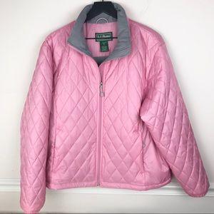 L.L. Bean Quilted Lightweight Puffer Jacket Pink